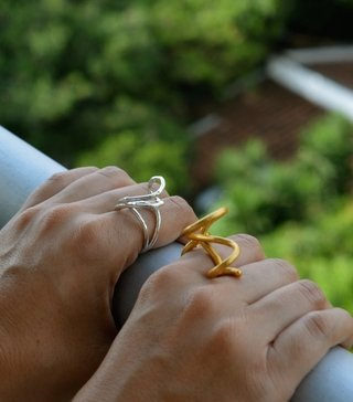 Ring Spiral Sustainable jewelry-Lecat - Currucutú|Accesorios latinoamericanos hechos a mano