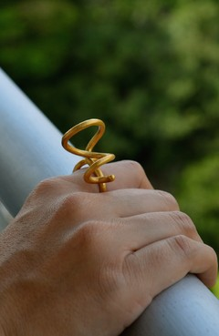 Ring Spiral Sustainable jewelry-Lecat
