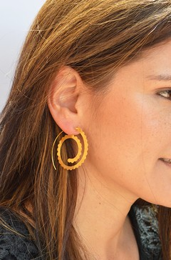 Earrings Spiral Sustainable jewelry-Lecat (copia)