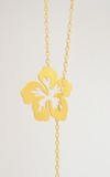 Necklace Hibiscus Flower sustainable jewerly - Lecat on internet