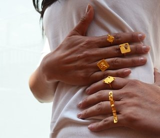 Ring Playfull 4 Sustainable jewelry-Lecat - Currucutú|Accesorios latinoamericanos hechos a mano