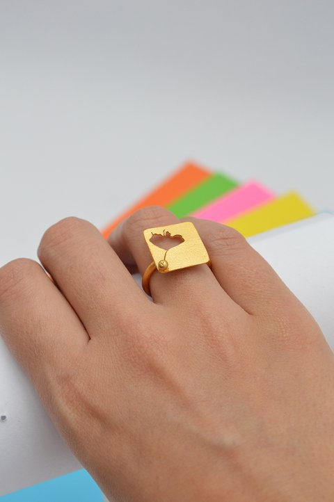 Ring flower Sustainable jewelry-Lecat - buy online