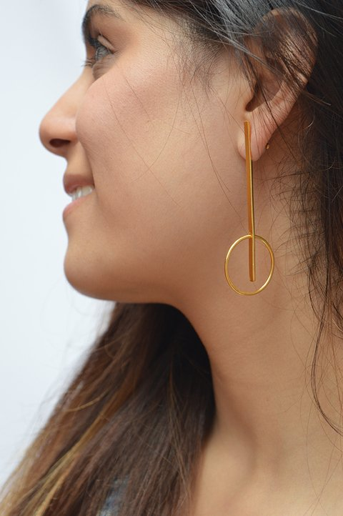 Geometrical Earrings-Lecat