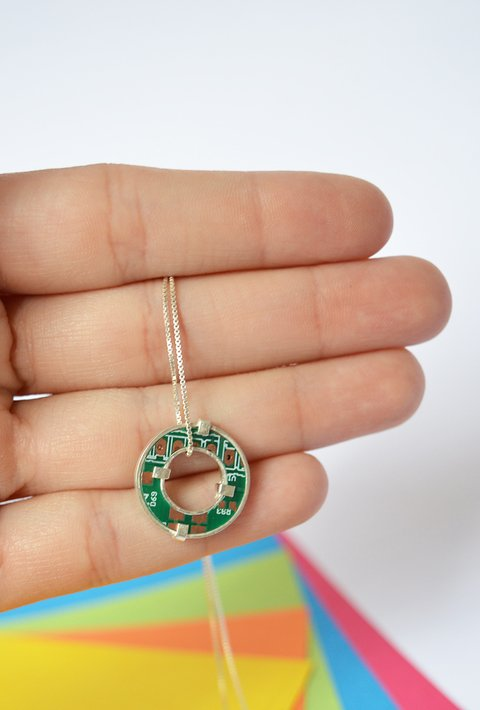 Necklace PCB Sustainable jewelry-Lecat - buy online