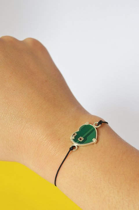 Bracelet PCB heart Sustainable jewelry-Lecat - buy online