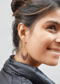 Earrings kerchief-Lina María Botero accesorios
