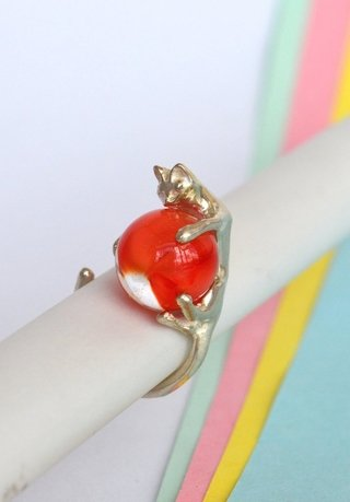 Ring Playful cat-Lucas Restrepo Henao - online store