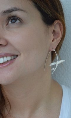 Earrings White orchid-Lucas Restrepo Henao