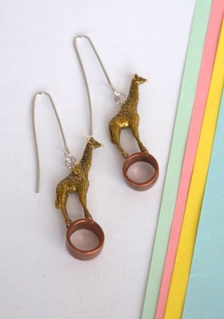 Earrings Giraffe-Lucas Restrepo Henao - online store