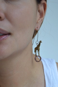 Earrings Giraffe-Lucas Restrepo Henao