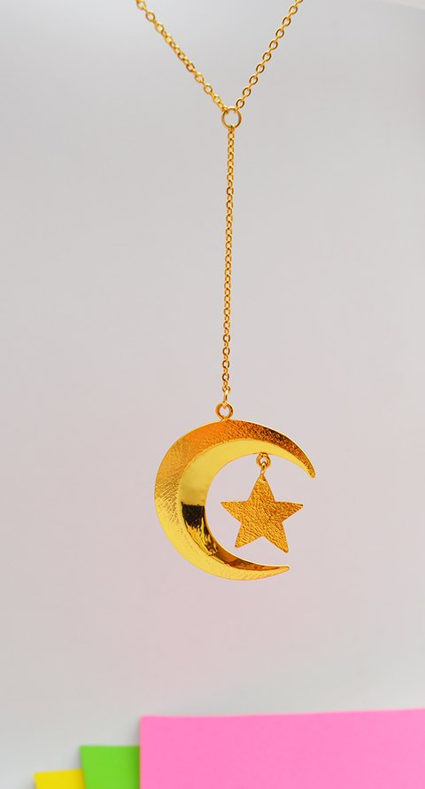 Necklace Moon - Minti Accesorios on internet