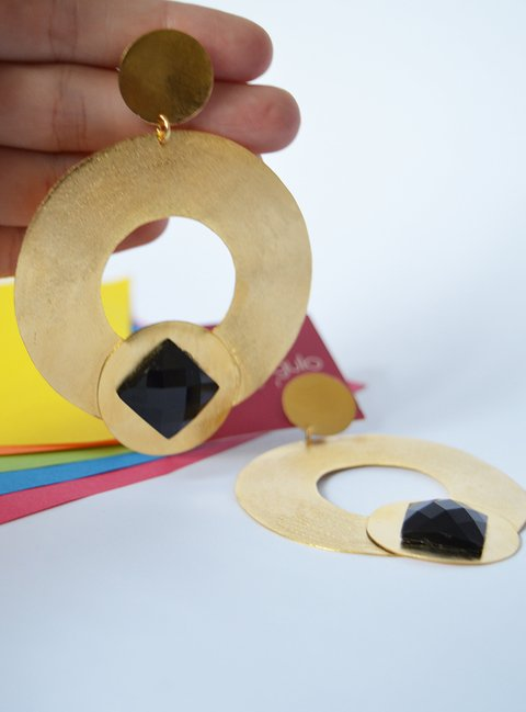 Earrings light circles - María Angulo Joyería - buy online