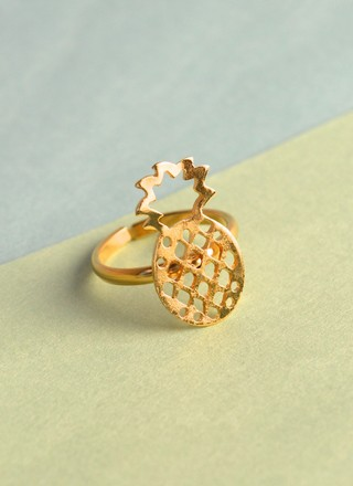 Ring Gold Pineapple-Mittu - buy online