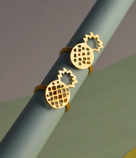 Ring Gold Pineapple-Mittu