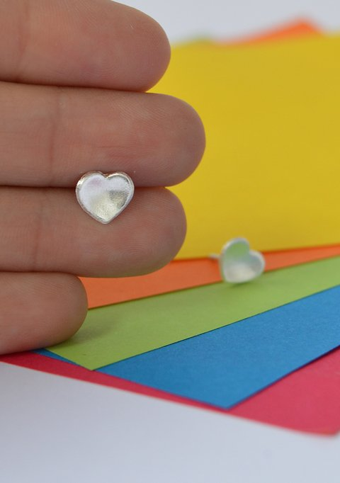 Studearrings Mini love - Tissu - buy online