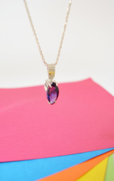 Necklace Oval amethyst - Carolina Zavala - buy online
