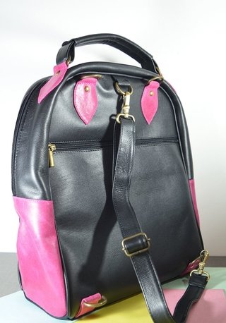 Leather Backpack Pink mandala-La Mantrina - buy online