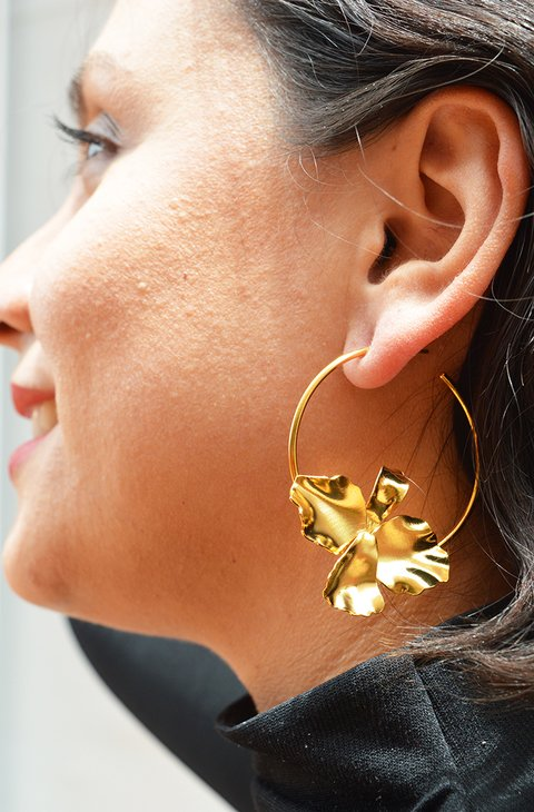Earrings Orchid beauty Sustainable jewelry - Lecat - buy online