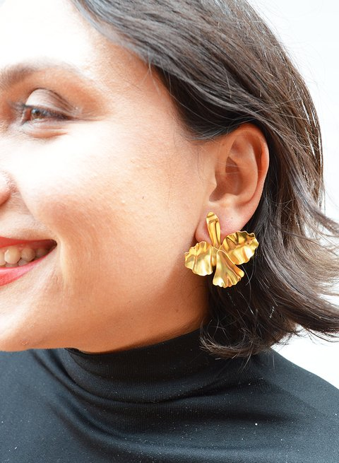 Earrings Orchid Sustainable jewelry - Lecat - buy online