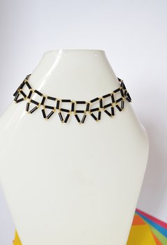 Necklace Black triangles - Poemsia Accesorios - buy online