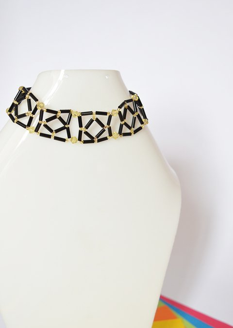 Necklace Black squares - Poemsia Accesorios - buy online