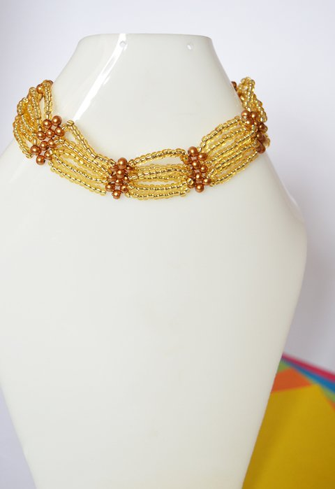 Necklace Golden - Poemsia Accesorios - buy online