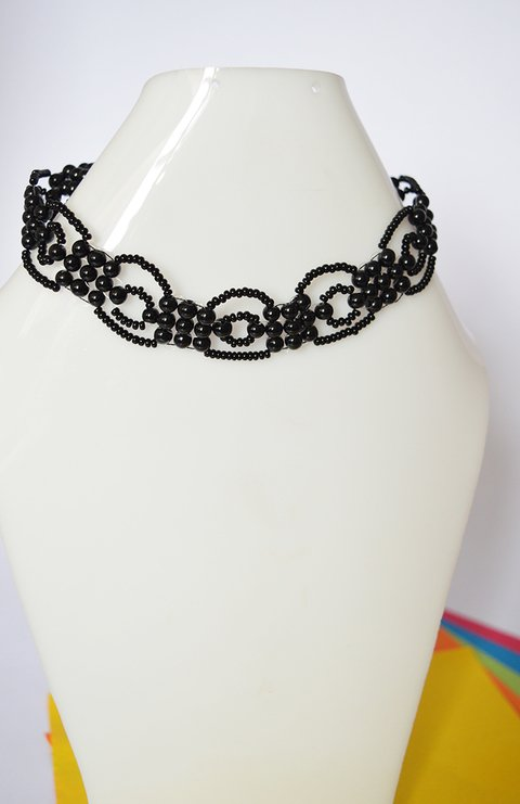 Necklace Black roses - Poemsia Accesorios - buy online