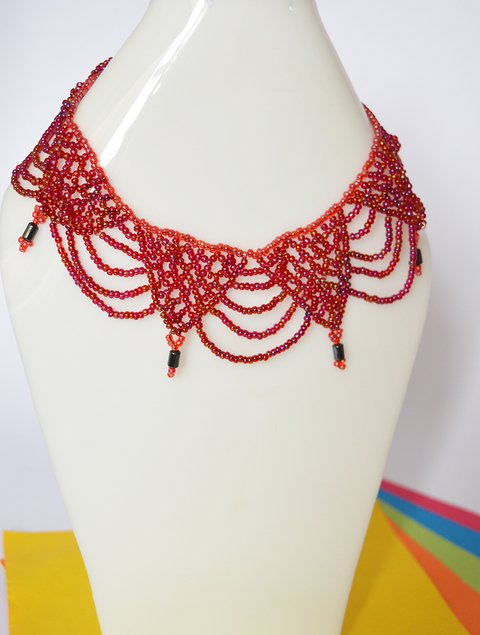 Necklace Fuchsia waterfall - Poemsia Accesorios - buy online