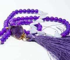 Necklace Purple quartz-Pecado Capital on internet