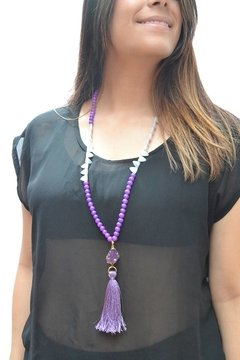 Necklace Purple quartz-Pecado Capital - buy online