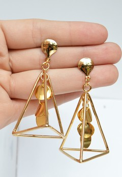 Earrings Pyramid and charms - María Angulo Joyería - buy online