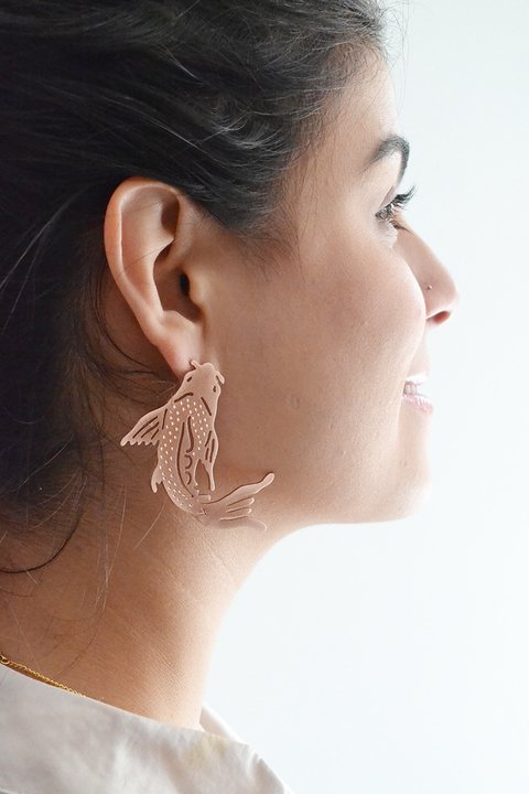 Earring Koi fish-Donella - buy online