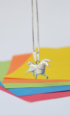 Necklace silver Unicorn - Papel Plegado