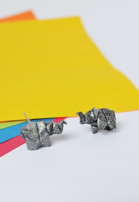 Studearrings Elephant - Papel Plegado - buy online