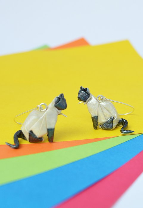 Earrings Special cats - Papel Plegado