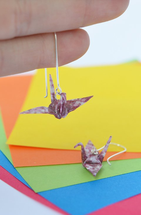 Earrings Crane - Papel Plegado