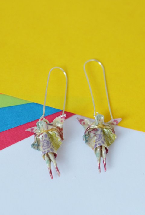 Earrings fairy - Papel Plegado