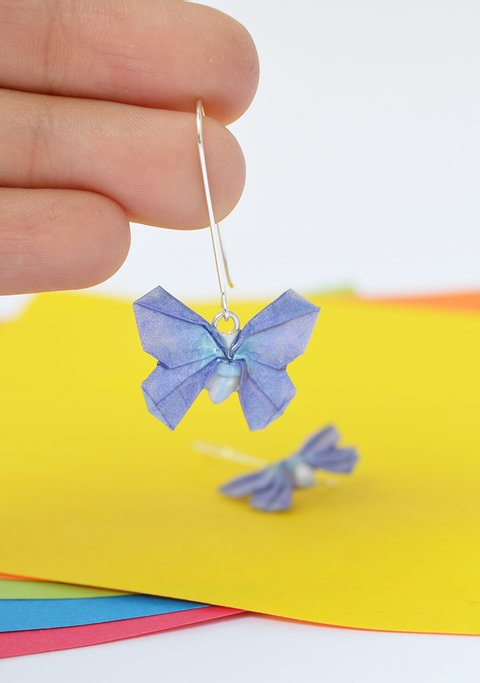 Earrings Butterfly - Papel Plegado