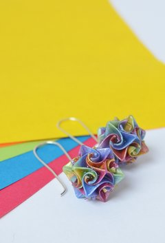 Earrings Little Kusudama - Papel Plegado - buy online