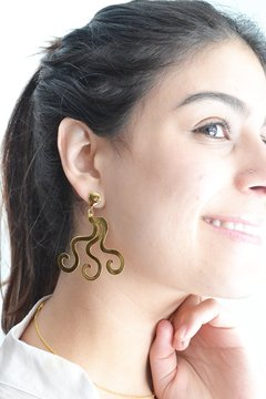 Earrings Waves- María Angulo Joyería