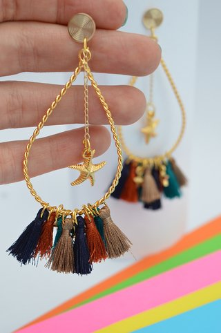 Earrings Drop tassels stars-Carol Sterling on internet
