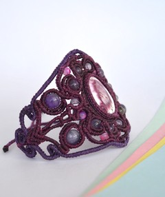 Bracelet-Purple flashes-Sapriet Taller