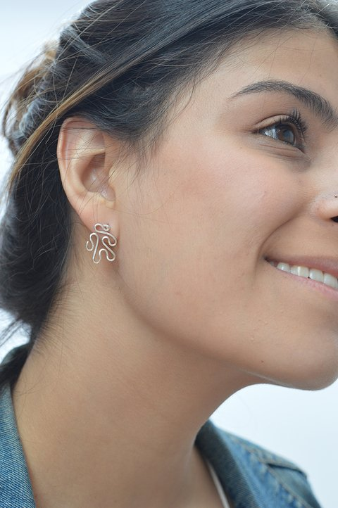 Stud Earrings labyrinth-Unakita - buy online