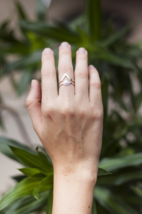 Anillo concha ·Plata· (-30% OFF) en internet