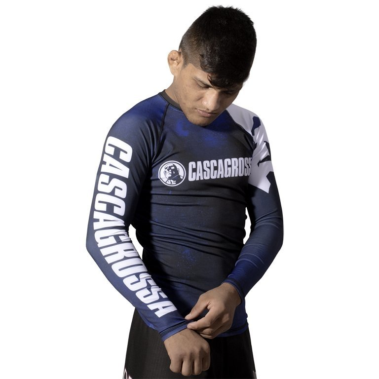 316e9d49e ... buy online RASH GUARD BLUE on internet ...
