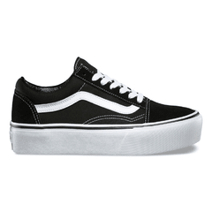 Zapatillas Vans Old Skool Plataforma Canvas Gamuza (Black/White) Z9562 (00)