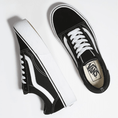 Zapatillas Vans Old Skool Plataforma Canvas Gamuza (Black/White) Z9562 (00) - comprar online