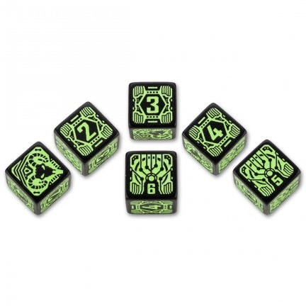 Set de 6 dados d6 Q-Workshop Shadowrun Decker