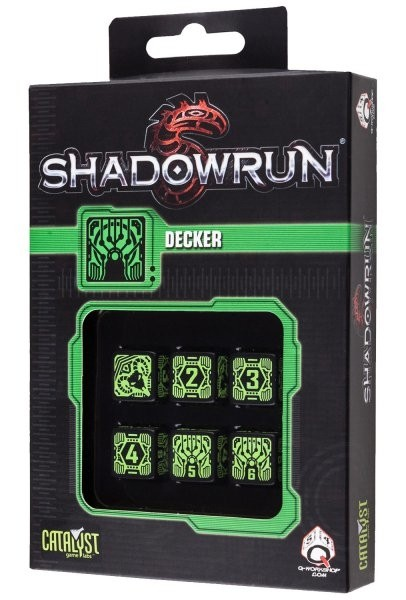 Set de 6 dados d6 Q-Workshop Shadowrun Decker - comprar online