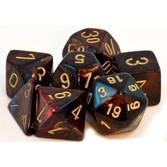 Set de 7 Dados Chessex Scarab Blue-Blood/Gold en internet